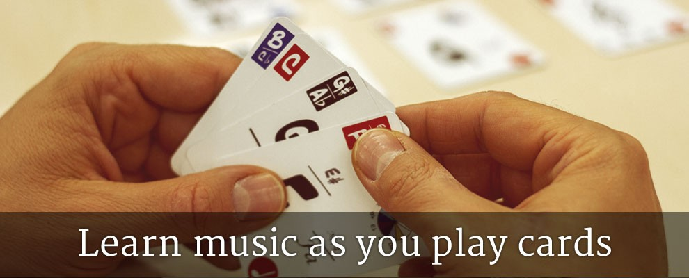 Learn music as you play (with cards!)