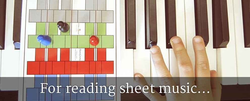 For reading sheet music...