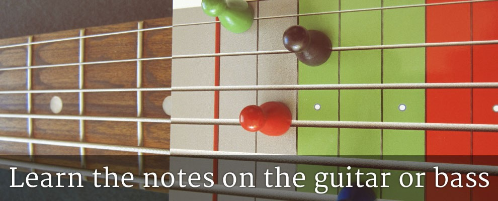 Learn the notes on the guitar or bass